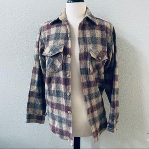 vintage WOOLRICH men's plaid wool shirt jacket S